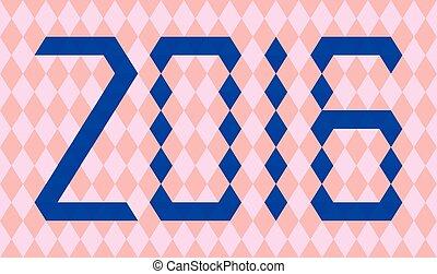 błękitny, robiony, takty muzyczne, rok, 2016, triangle