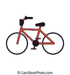 błękitny, rocznik wina, symbol, rower, kwestia