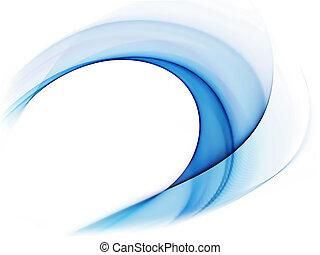 błękitny, ruch, falisty, dynamiczny