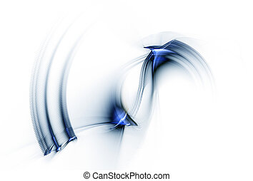 błękitny, ruch, rotacyjny