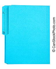 błękitny, rząd, foldert