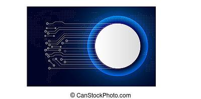 błękitny, sieć, handlowy, przemysł, abstrakcyjny, kreska, connection., cyber, theme., objazd, koło, guzik, tło, internet, board., biały, technologia, concept., futurystyczny, 4.0