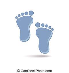 błękitny, stopa