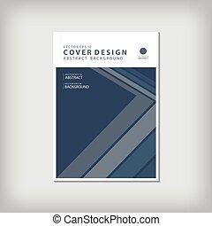 błękitny, strzała, roczny, bar, illustration., tło., broszura, magazyn, osłona, układ, wektor, albo, modeluje, zameldować, lotnik, projektować, a4, szablon, broszura, geometryczna lina