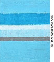 błękitny, sztuka, abstrakcyjne malarstwo