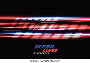 błękitny, szybkość, kwestia, jarzący się, tło, biegi, czerwony
