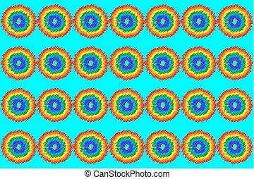 błękitny, tęcza, abstrakcyjny, tło