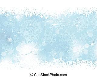 błękitny, tło., eps, boże narodzenie, 8