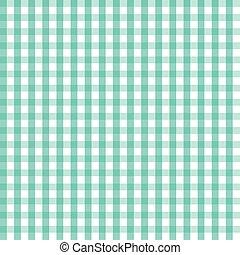 błękitny, tablecloth, klatkowy, wektor, ilustracja