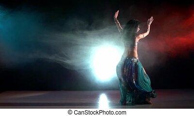 błękitny, talanted, powolny, błękitny, taniec, tancerz, ...
