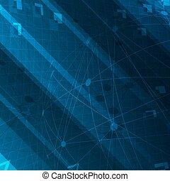 błękitny, themed, designs., abstrakcyjny, cyfrowy, tło., techniczny