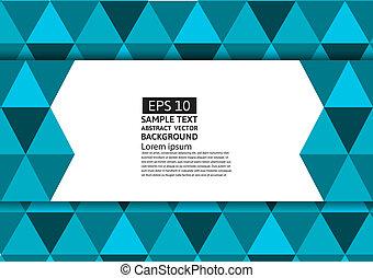błękitny triangel, przestrzeń, abstrakcyjny, nowoczesny, wektor, projektować, tło, eps10, kopia