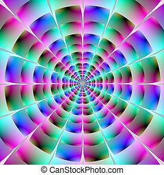 błękitny tunel, różowy, czas