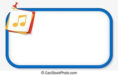 błękitny, ułożyć, muzyka, pushpin, ikona