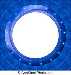 błękitny, ułożyć, tło, iluminator