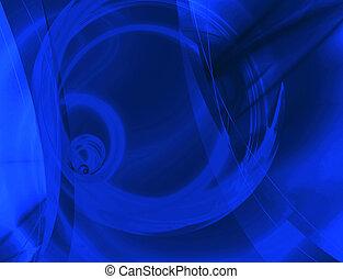 błękitny, układ, abstrakcyjny
