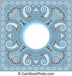 błękitny, ukrainiec, próbka, barwa, orientalny, etniczny, ...