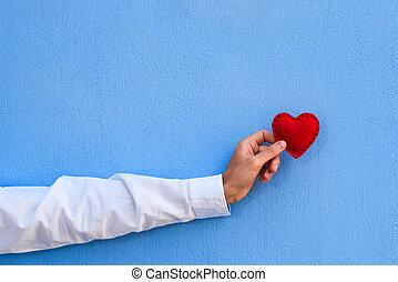 błękitny, valentine, przestrzeń, tło, kopia, dzień