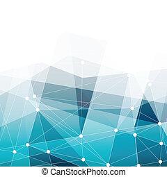 błękitny, vector., przestrzeń, abstrakcyjny, text., tło