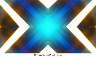 błękitny, vj, abstrakcyjny, złoty, pętla