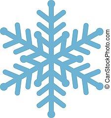 błękitny, wektor, płatek śniegu, ilustracja