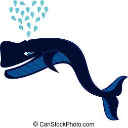 błękitny wieloryb, miłość, ilustracja