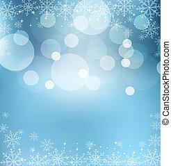 błękitny, wigilia, abstrakcyjny, rok, tło, nowy, boże...
