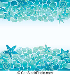 błękitny, wiktoriański, seamless, tło