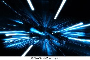 błękitny, wybuch