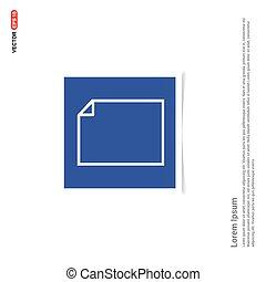 błękitny, zdejmować budowę, -, nuta, ikona