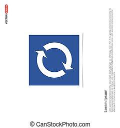 błękitny, zdejmować budowę, -, reload, ikona