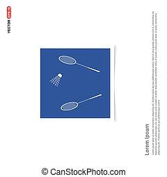 błękitny, zdejmować budowę, -, wolant, rakieta, ikona