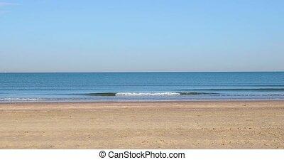 błogość, plaża, piaszczysty, morze