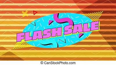 błysk, graficzny, błękitny, sprzedaż, różowe tło, pomarańcza, 4k, owal, pasiasty