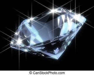 błyszczący, diament