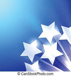 błyszczący, gwiazda, tło