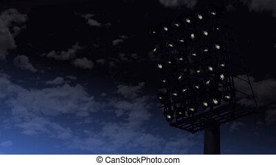 błyszczący, lights., stadion