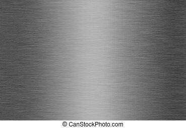 błyszczący, oczyszczony szczotką metal, struktura, tło