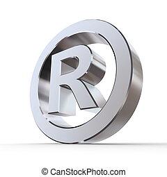 błyszczący, rejestrowy trademark, symbol