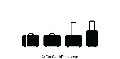 bőrönd, állhatatos, ikon