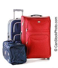 bőrönd, elszigetelt, white