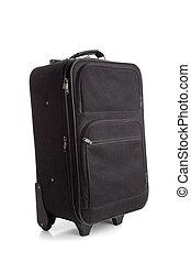 bőrönd, fekete, vagy, poggyász