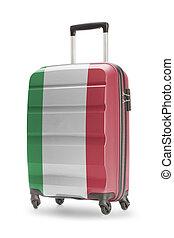 bőrönd, noha, nemzeti lobogó, képben látható, azt, -, olaszország