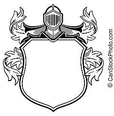 bőr, fegyver, knight's