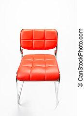 bőr szék, elszigetelt, white
