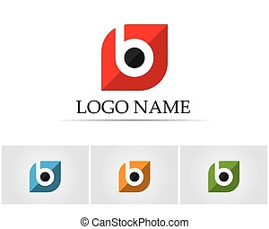 b, ícones, abstratos, -, vetorial, letra, logotipo
