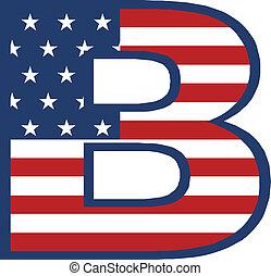 b, アメリカ, 手紙
