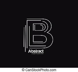 b, 회사, 벡터, 로고