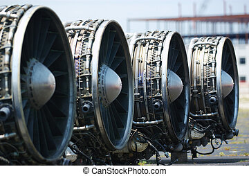 B-1 Lancer Engines - Boeing B-1 Lancer engines on the...