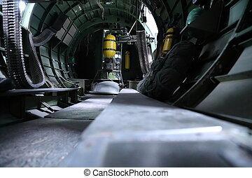 B 17 Bomber interior